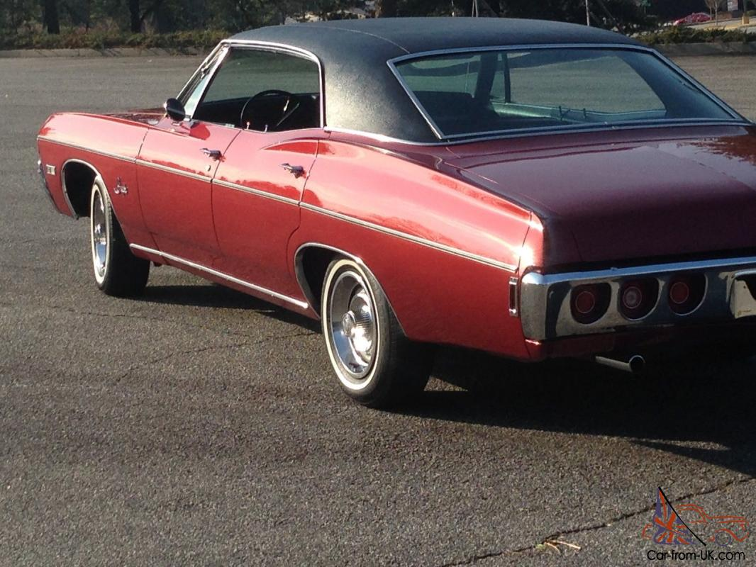 Impala 1968 chevy impala parts : Chevy Impala 327 Red/Black Great condition New paint all New chrome