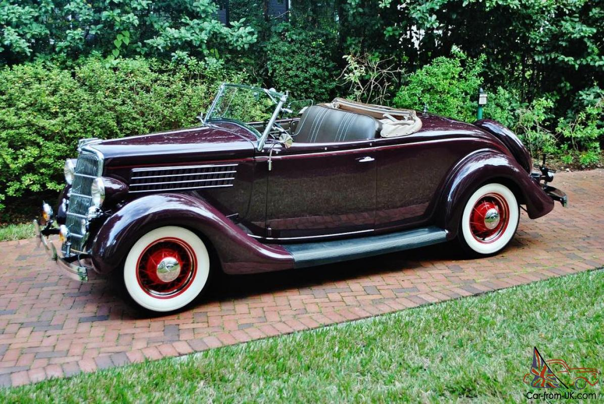 Frame Off Restored 1935 Ford Roadster Convertible Best In Country Over 80 Pick S