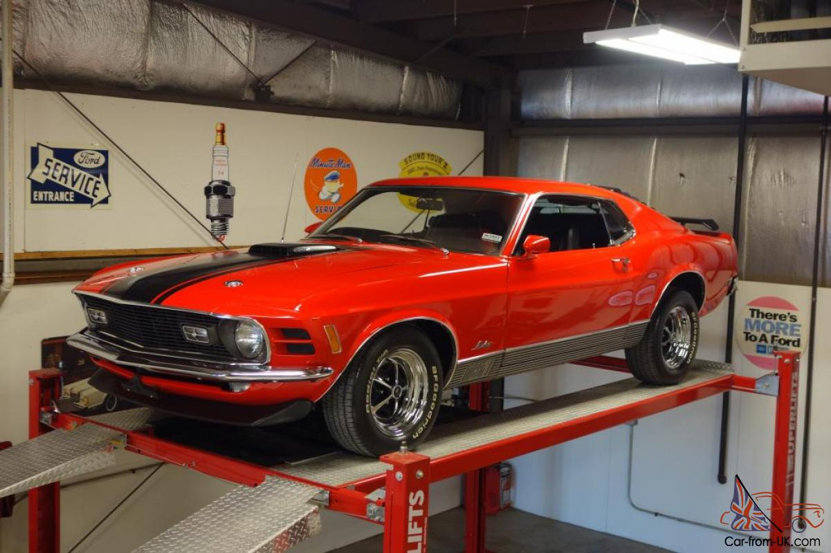 1970 Ford Mustang Mach 1 R Code 428 Cobra Jet Shaker 4 Speed 1969 Scoop Matching S