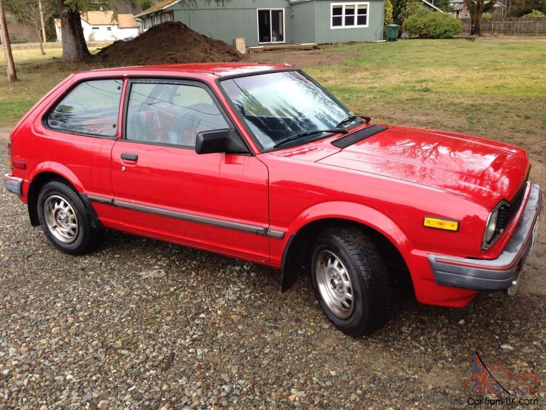 1983 Red Honda Civic 1500S 5 speed Hatchback