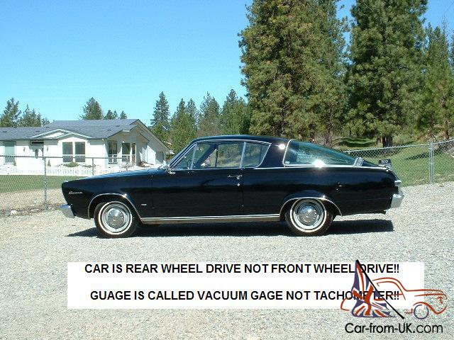 1966 Plymouth Barracuda! Black on Black! 273 V8 Low Miles! One Owner!  NICE!!!!