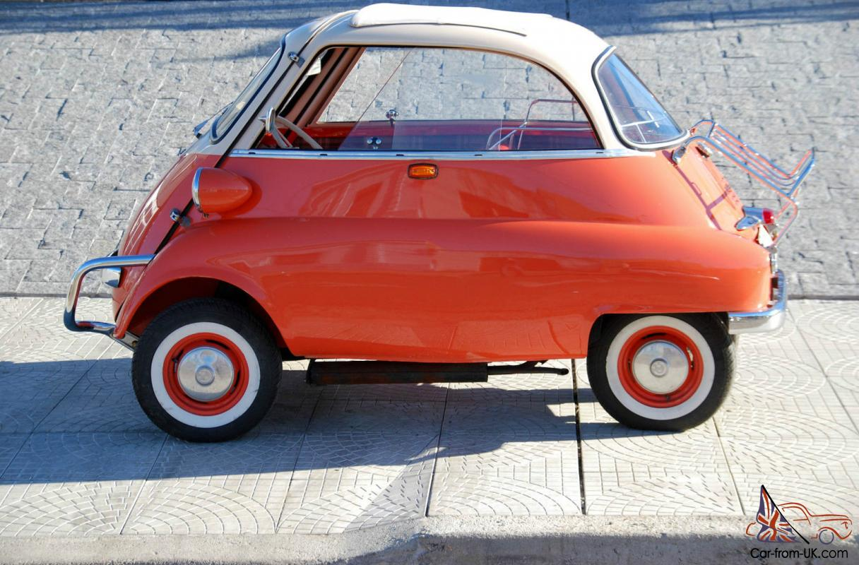 Bmw Isetta 300cc Model Glass Sliding Usa Year 1958