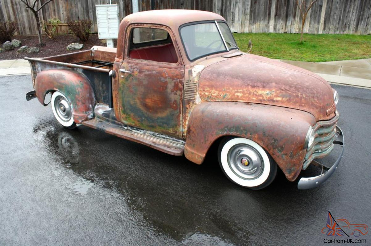 Chevrolet Pick up-Whitewalls-Patina-Rat Rod-1949-1951-1952-1953 ...
