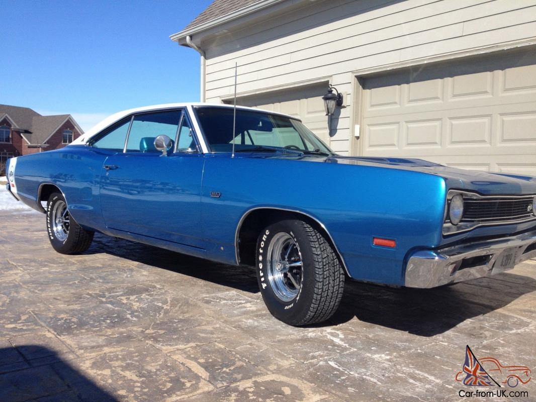 1969 DODGE SUPER BEE ORIGINAL ENGINE, QUARTERS, CARTER CARB, 383 FACTORY AIR