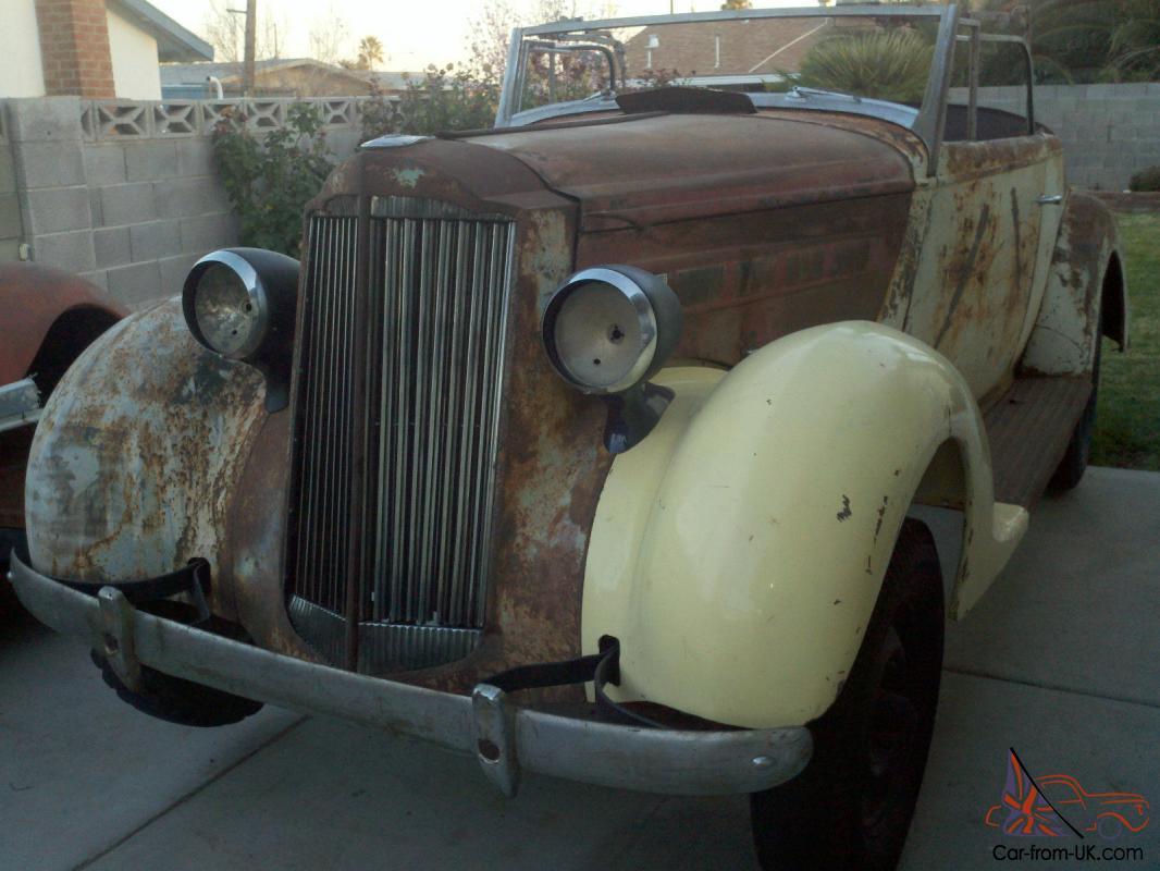 1937 Packard 115c Convertible Rumble Seat