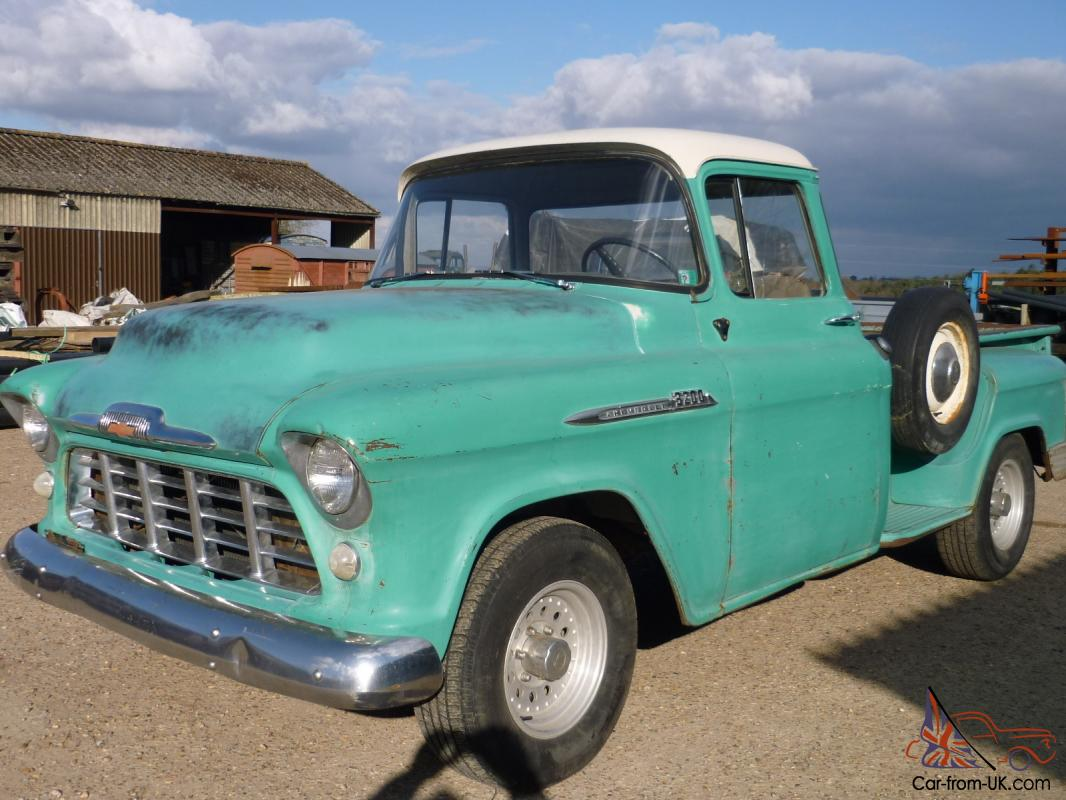 Truck 56 chevy truck : 1956 Chevrolet stepside pickup truck Taxed UK reg runs drives well ...