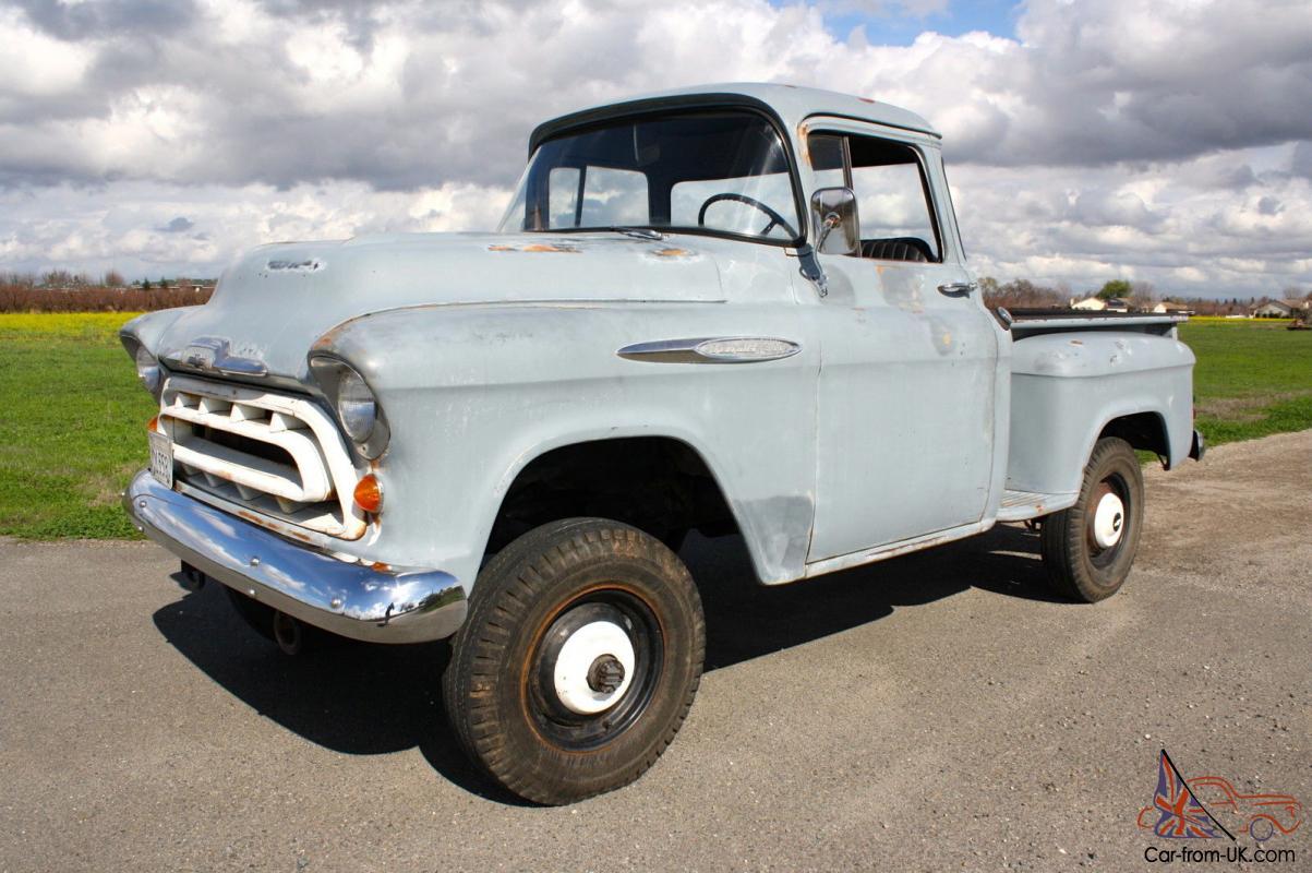 1957 Chevrolet NAPCO Stepside Pickup, Big Window, Short Bed, 1/2  Ton,1955,1956
