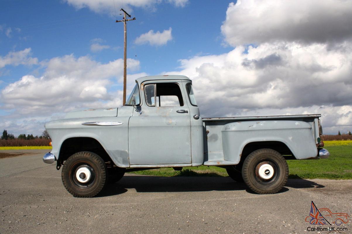 Chevrolet NAPCO Stepside Pickup, Big Window, Short Bed, 1/2 Ton ...
