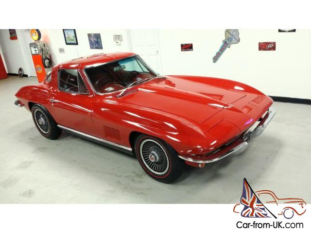 1967 Corvette Coupe Rally Red/red interior -- Automatic -- A/C --