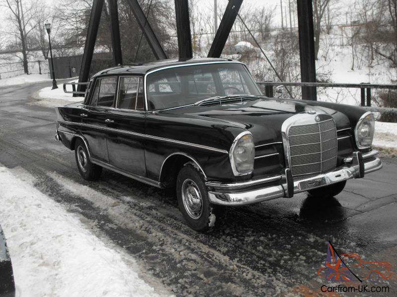 1965 Mercedes Benz 300se W112 Fintail Very Rare Sedan Sunroof Db040 Black