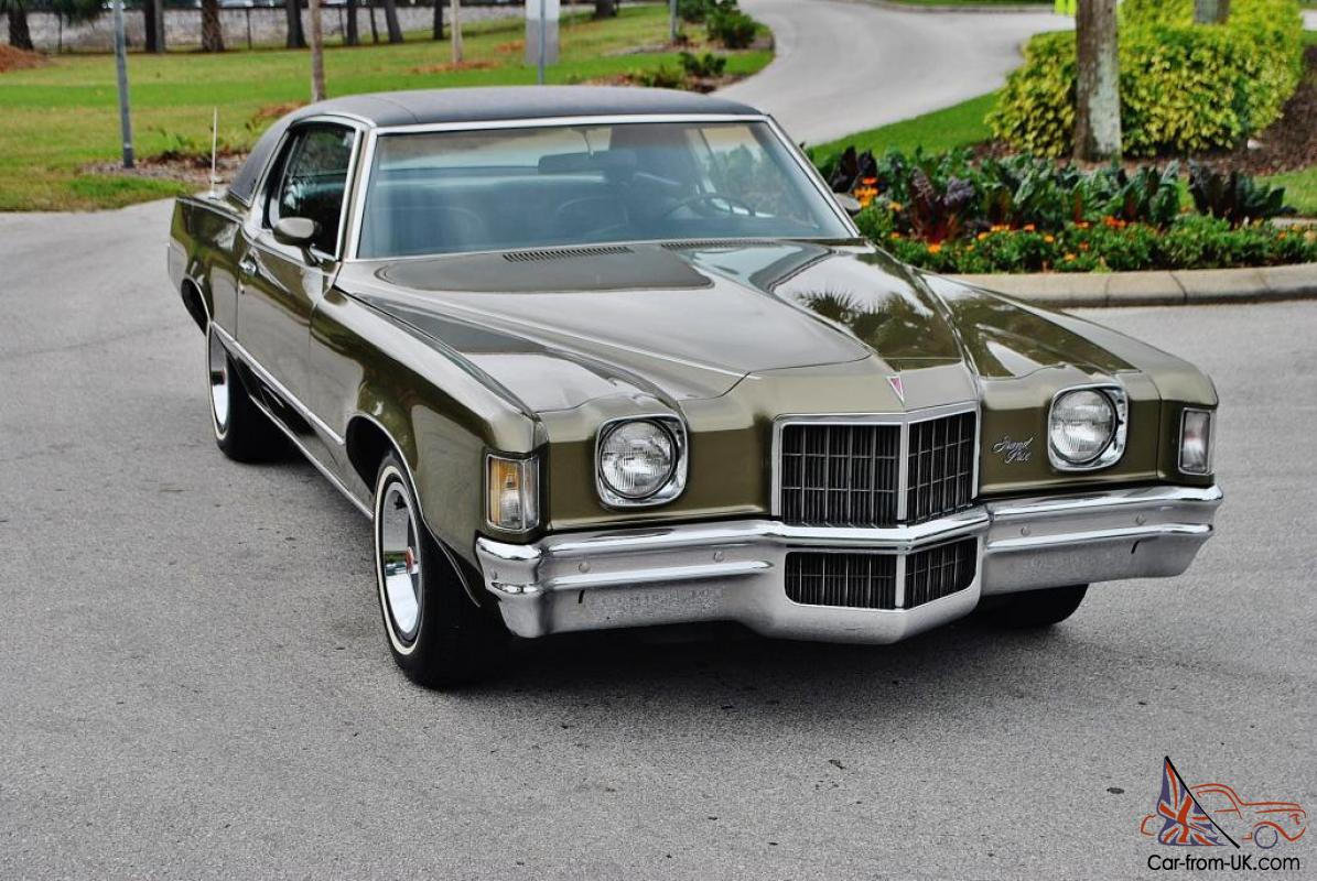 Once In A Lifetime Find 1972 Pontiac Grand Prix Model J Just 50ks Loaded Mint