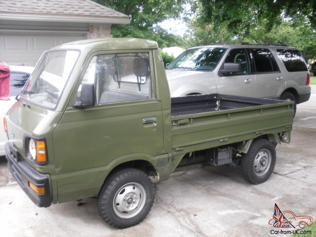 1988 Subaru Sambar Mini Truck Army Green