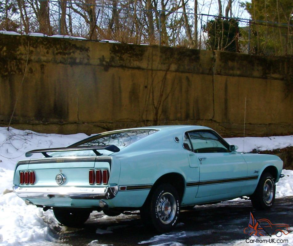 1969 Ford Mustang Fastback Sportsroof V8 Automatic