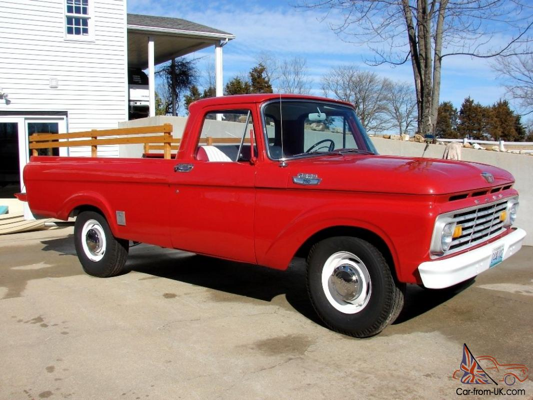 1963 Ford F 250 Red Pickup Truck With 32 607 Original Miles