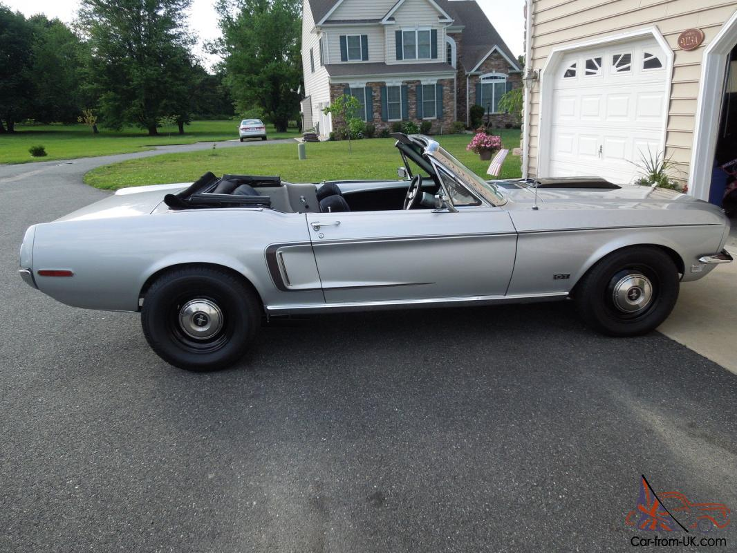1968 ford mustang convertible gt cobra jet