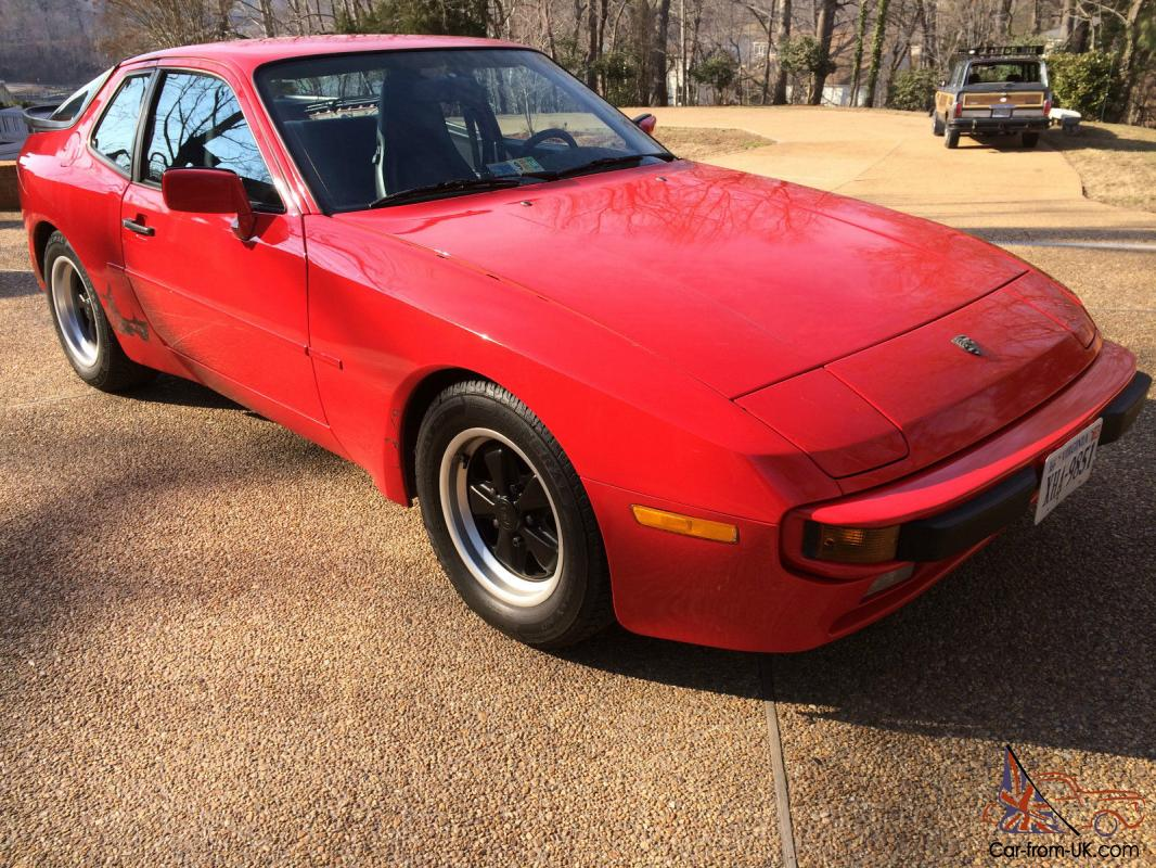 1985 5 Porsche 944 Red Black Leather 115 000 Miles Sunroof Automatic