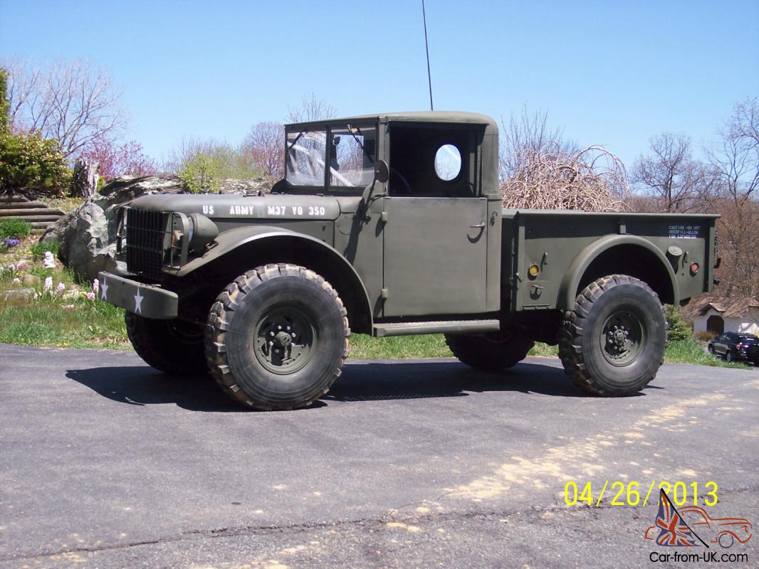 Dodge Power Wagon >> Dodge Power Wagon Military M37 Truck V8 Auto