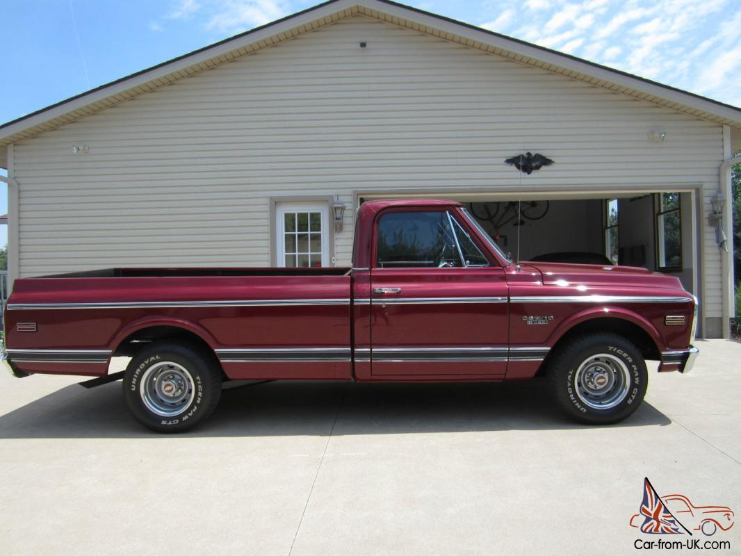 1970 Chevy Pickup >> 1970 Chevy Cst C10 Long Bed Pick Up Fire Mist Red