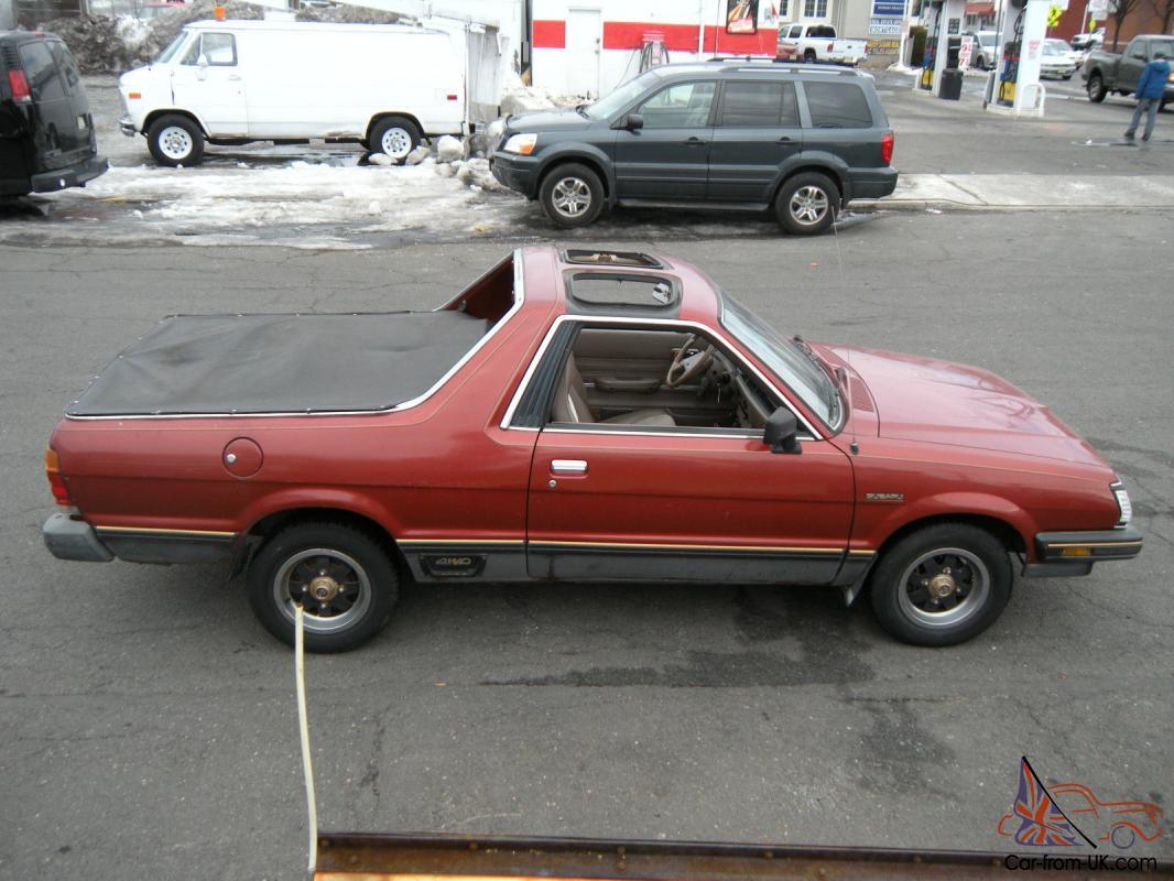 1984 Subaru Brat GL Turbo Standard Cab Pickup 2-Door 1.8L