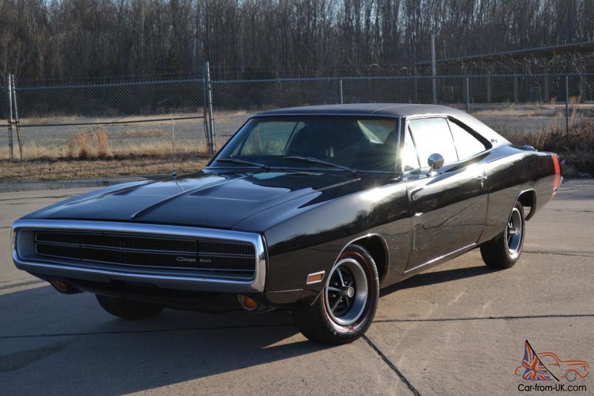 1970 Dodge Charger 500 Triple Black Matching Number 383 Hp Magnum No Reserve
