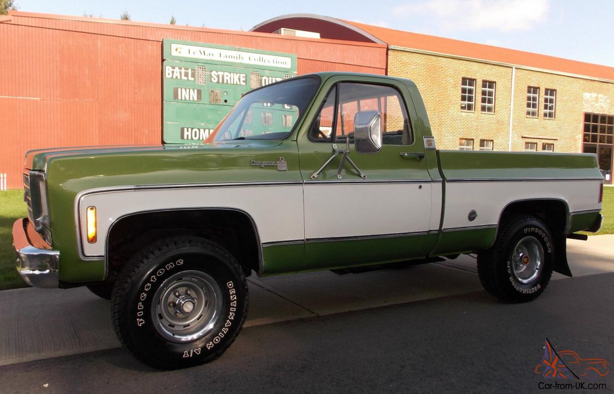 1976 Chevy Cheyenne 4x4 4 Speed 350 V8 Shortbed 2 Owner NO RESERVE EXCELLENT