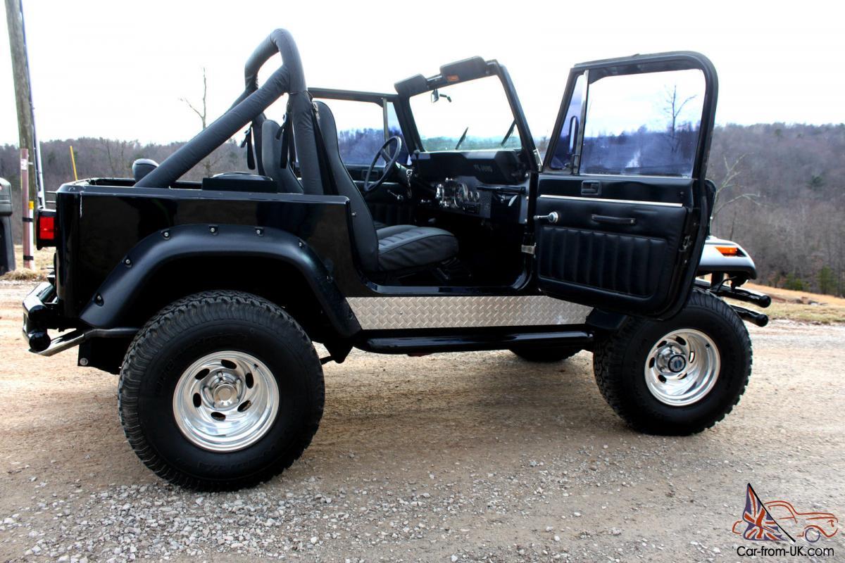 1986 Jeep Cj7 4 2l Automatic Black On Black