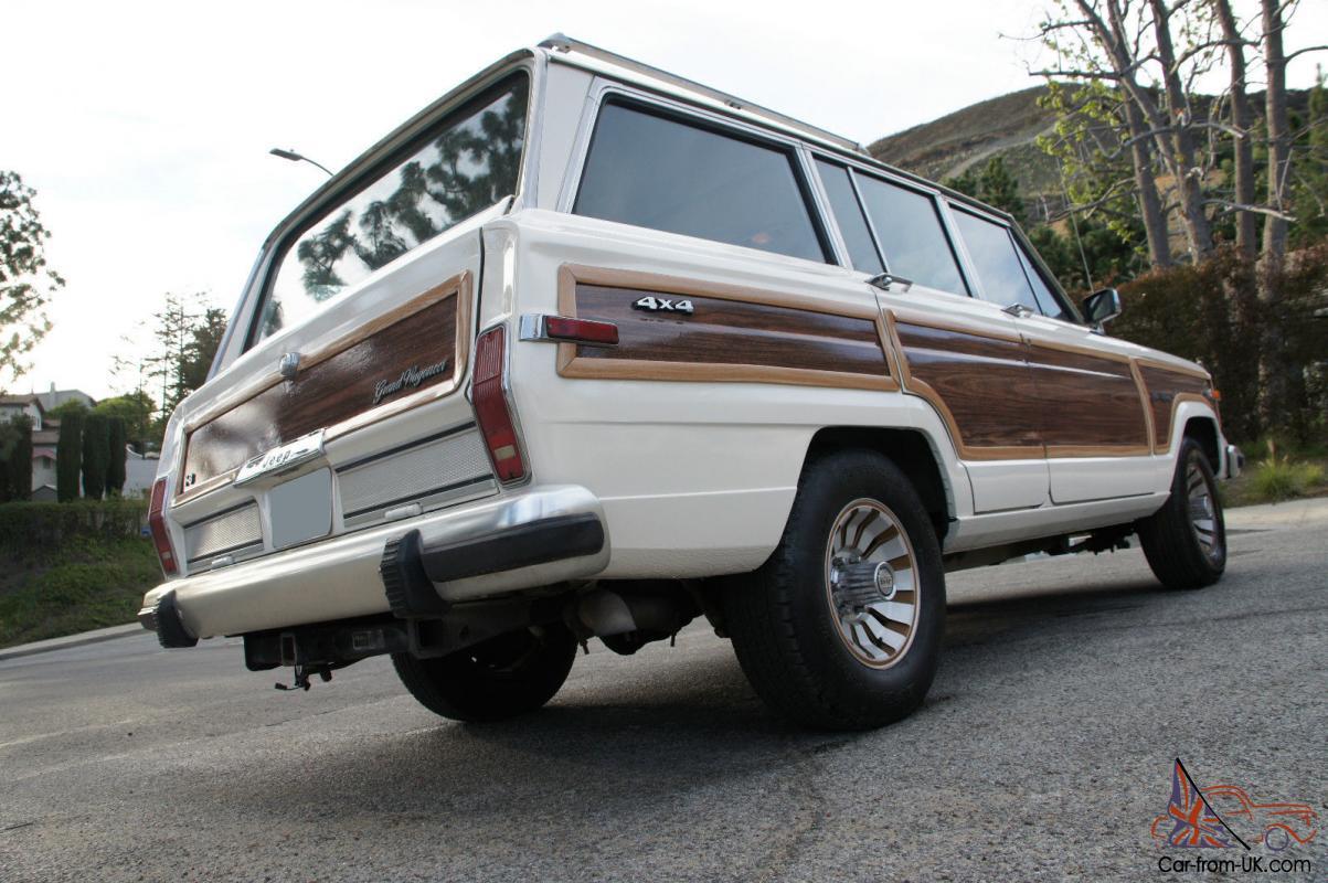 1986 Jeep Grand Wagoneer W Wood Paneling White Tan
