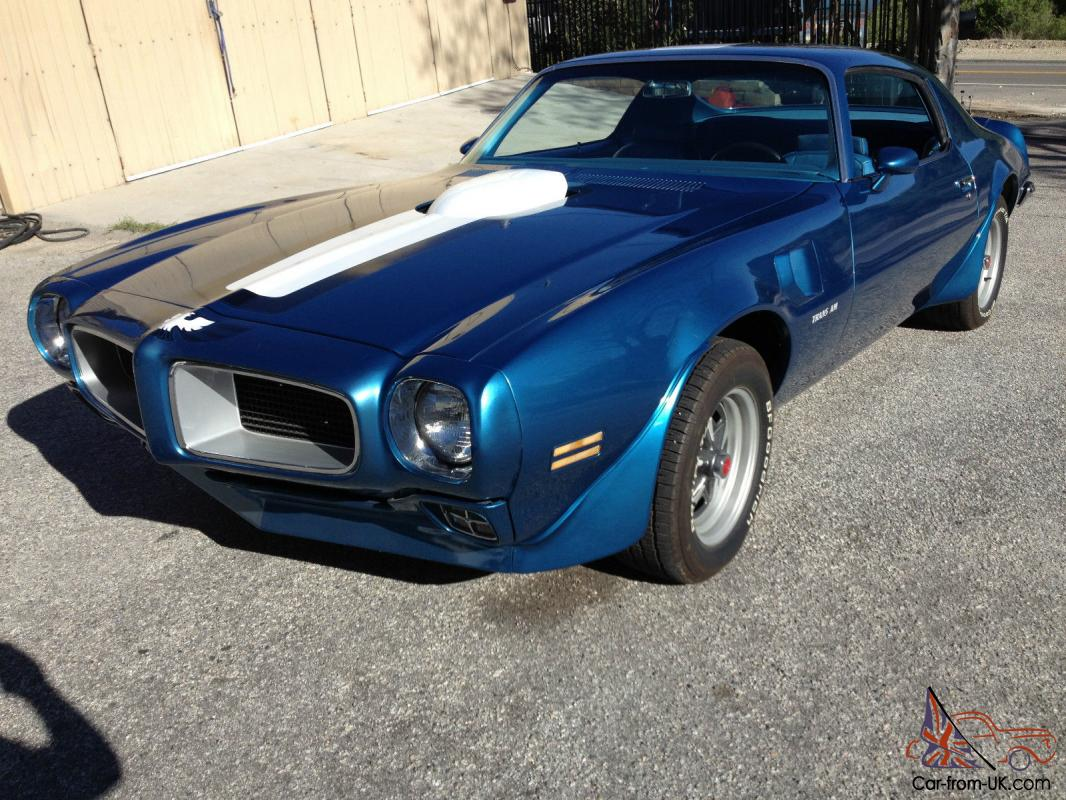 1970 1/2 PONTIAC TRANS AM, PHS DOCUMENTED, LUCERNE BLUE, CALIFORNIA CAR, NO  RUST