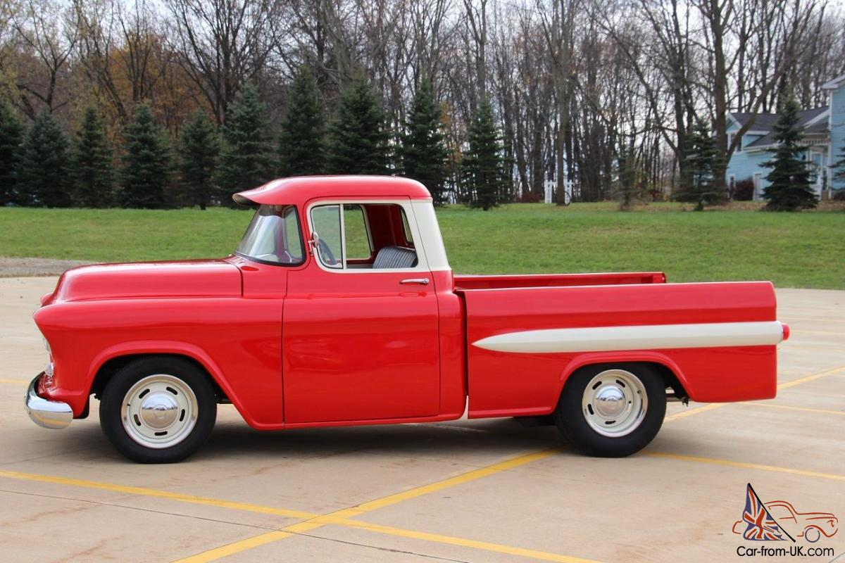 Truck 56 chevy truck : Chevy 3100 Pick Up, Custom Fleetside, Pro Touring, Resto Mod, Road ...