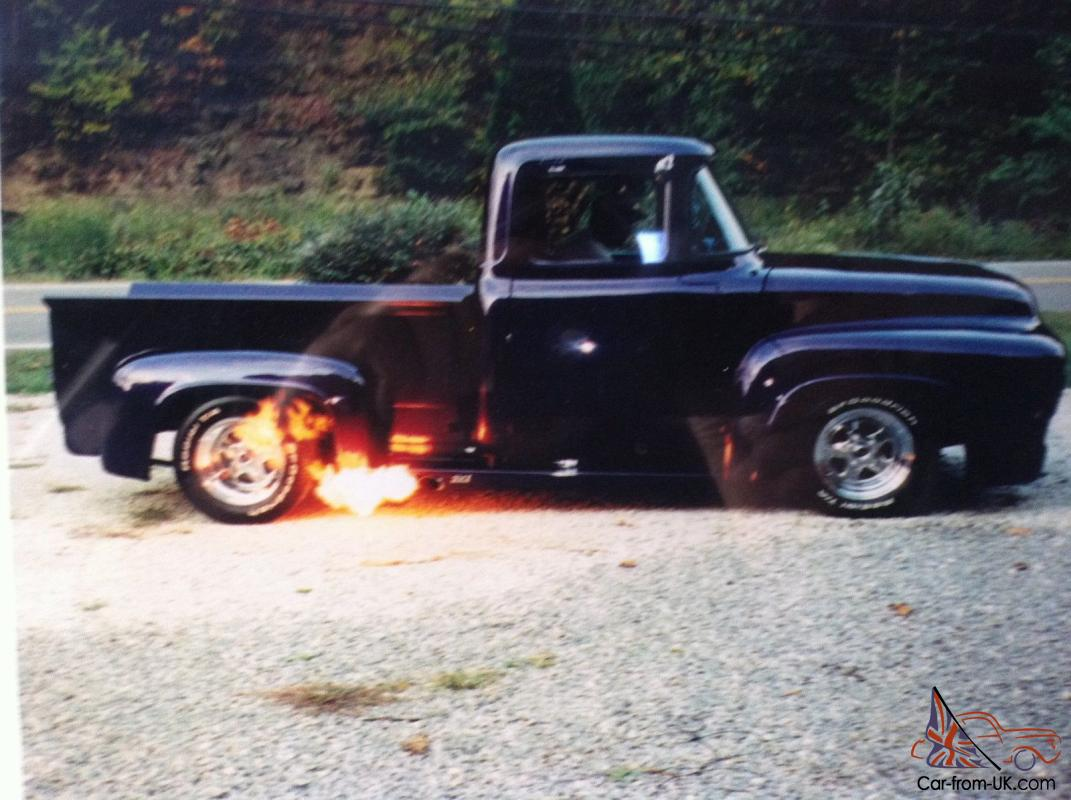 1956 ford f100 street rod 466 cu inch purple