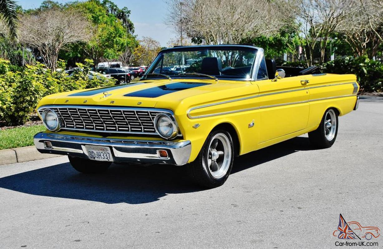 Fully restored 1964 Ford Falcon Futura Convertible in 289 v-8 auto p s  hertz top