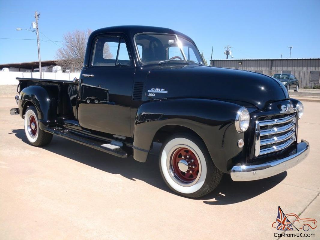 1951 Gmc 100 Longbed Stepside Pickup All New Black With Tan