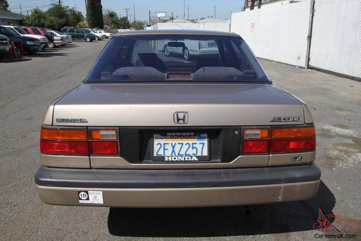 1987 Honda Accord LX 4-Door Sedan Automatic 4 CYLINDER NO ...