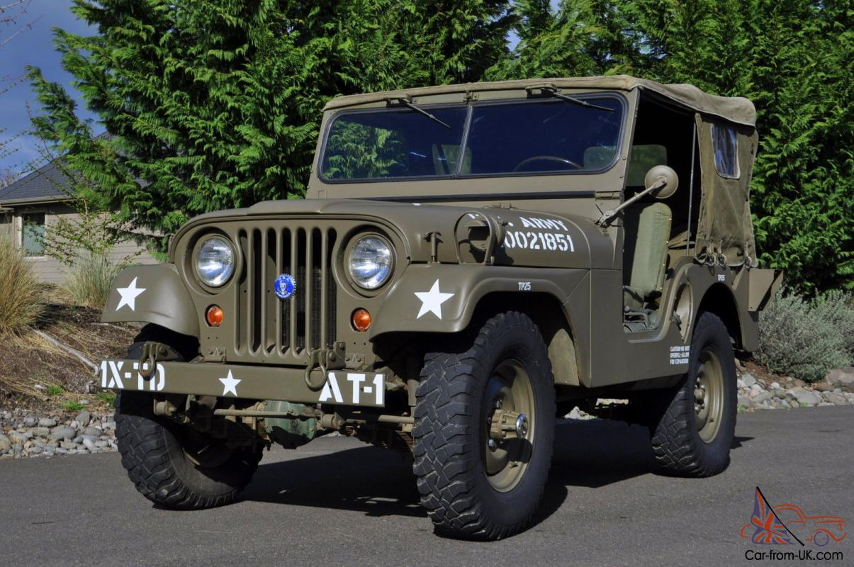 Military Jeep For Sale >> 1952 Willys Military Army Jeep 1st Generation Early Korean War M38a1 4wd
