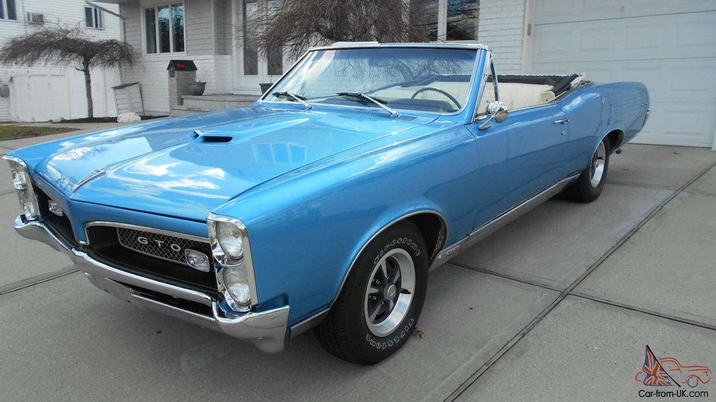 1967 GTO CONVERTIBLE....ORIGINAL 400 ENGINE 4SPEED