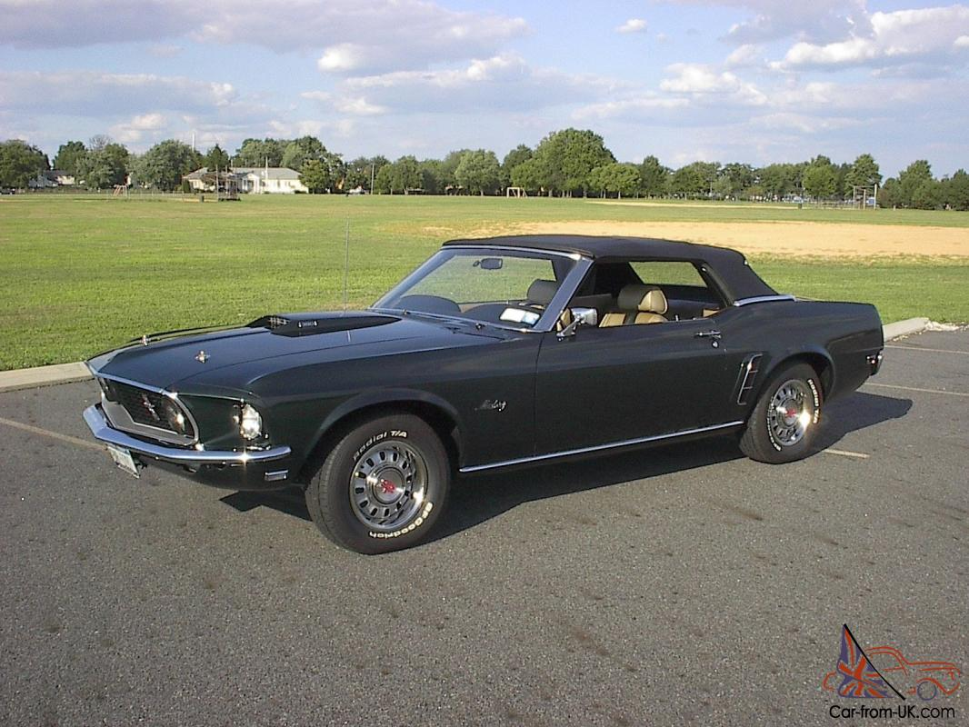 1969 Mustang Gt Convertible 390 S Code Roush Shelby