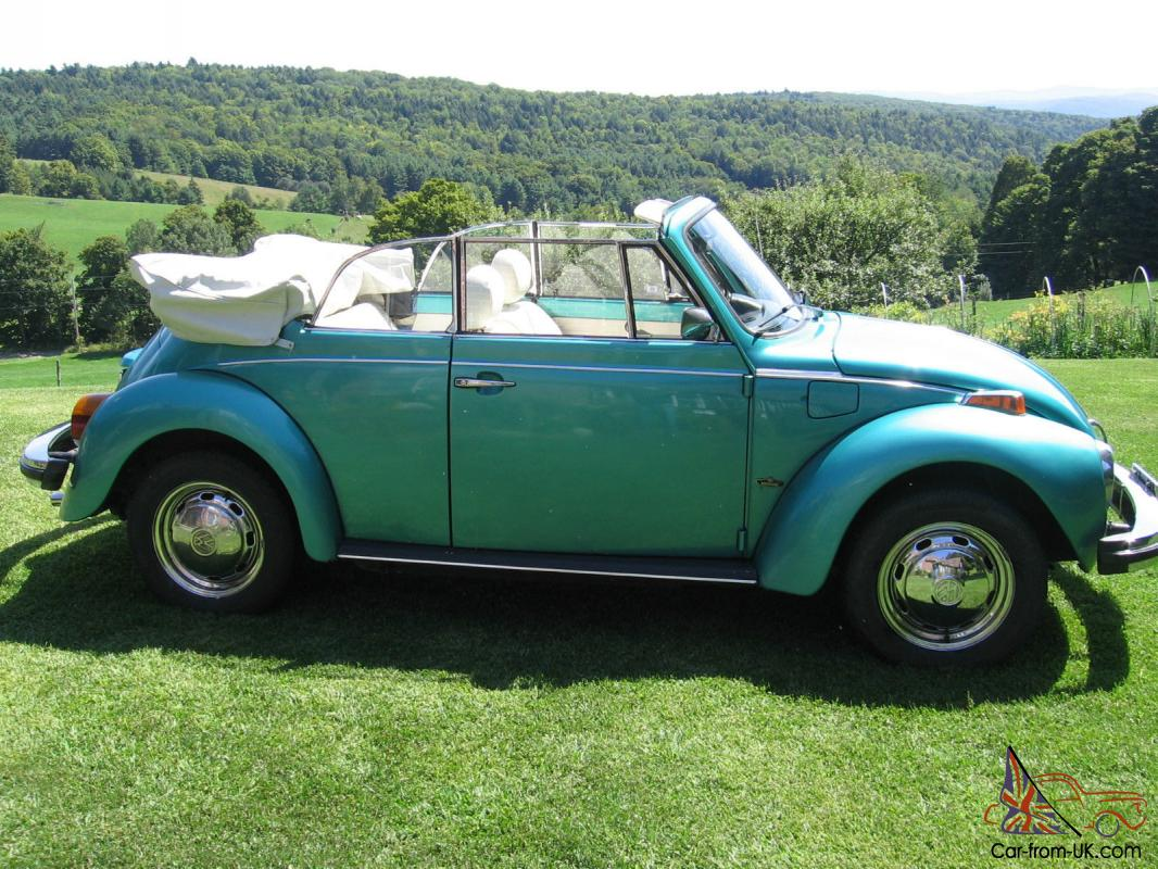 Classic 1978 Volkswagen Karmann Edition Fuel Injected Super Beetle Convertible