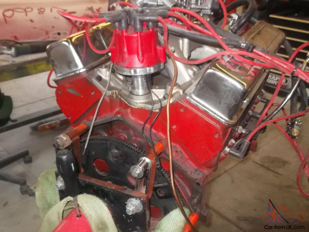 CHEVROLET 383 C I STROKER ENGINE AND TH350 TRANSMISSION