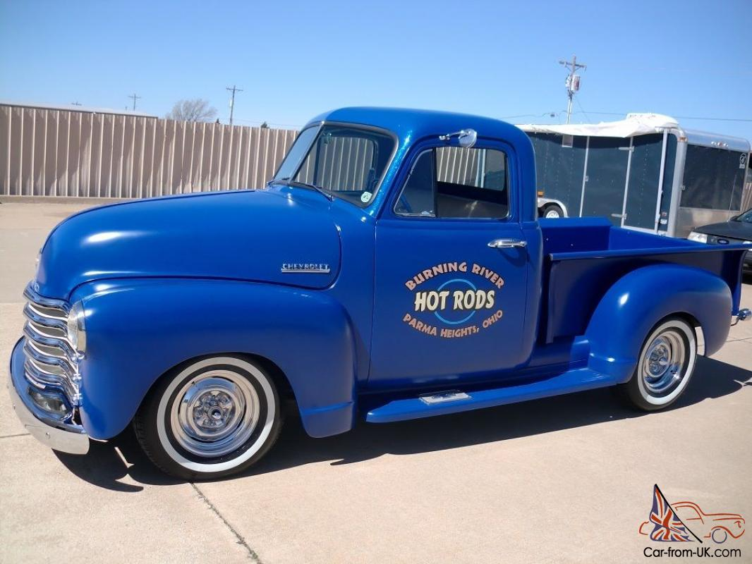 1952 Chevy Pick Up Custom Built From The Ground Up Everything New