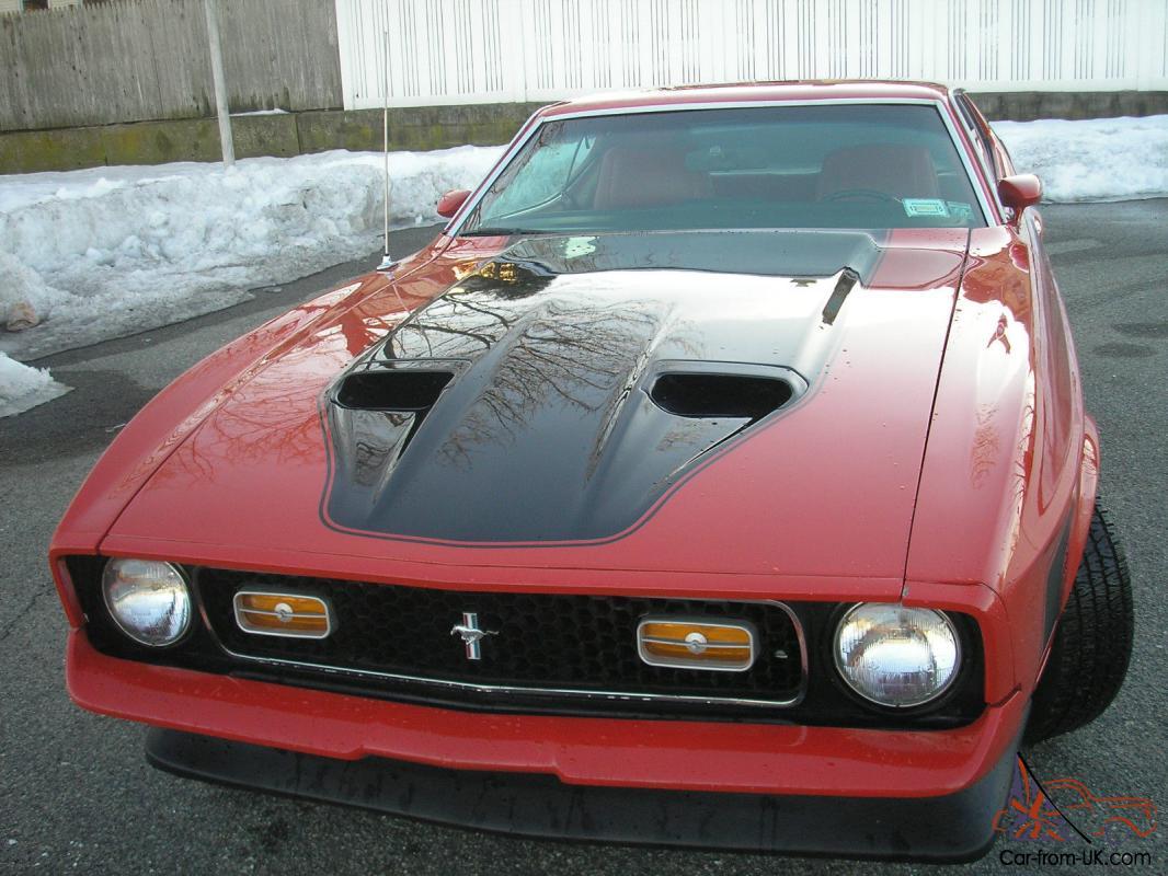 1971 Mach 1 Mustang 351c Original Red  Red A  C P  B P  S Tach