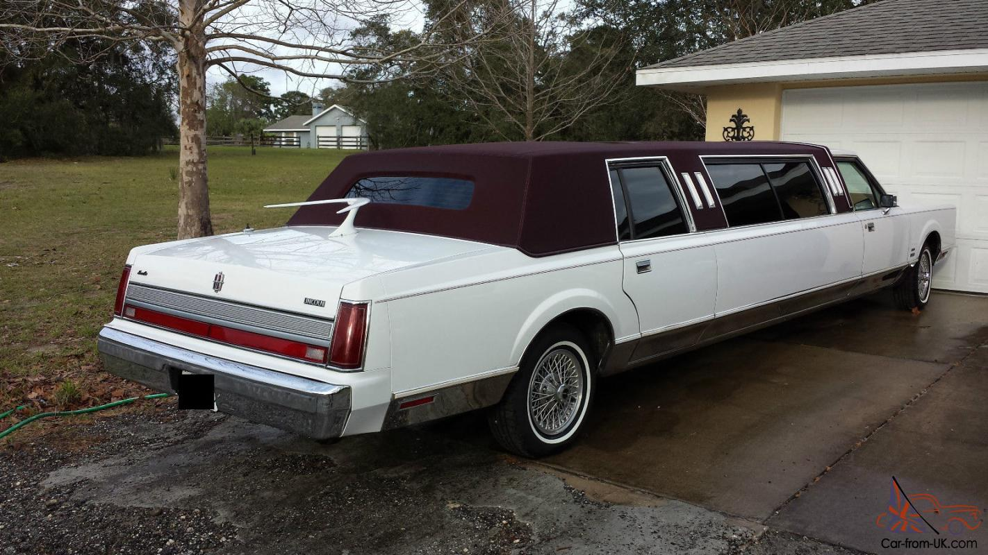 1989 Lincoln Town Car >> 1989 Lincoln Town Car Stretch Limo One Owner 43k Original Miles