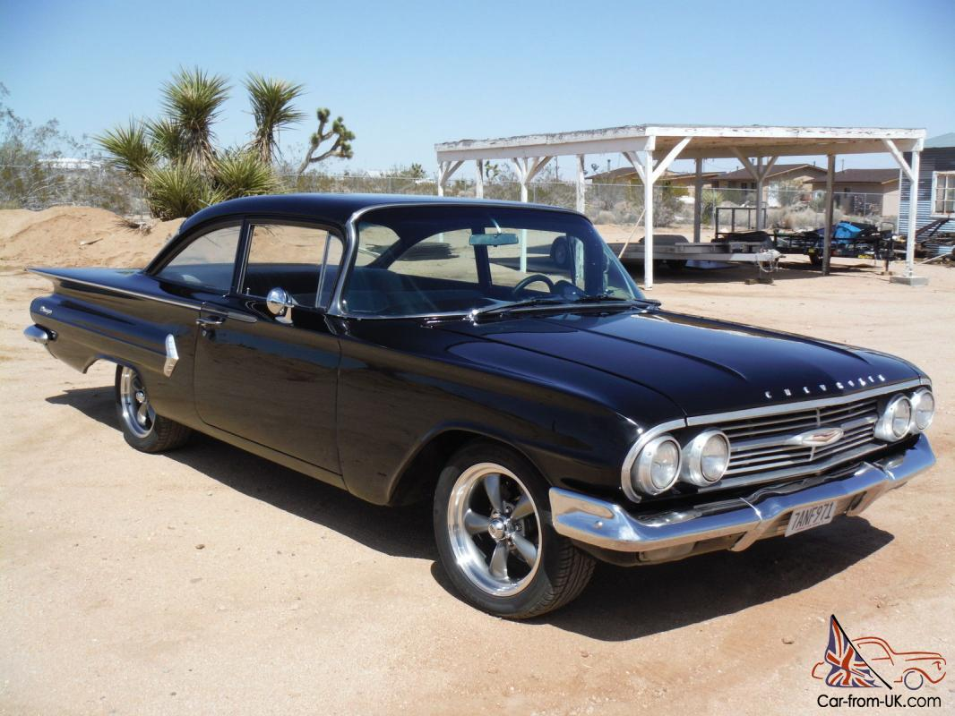 All Chevy 1960 chevrolet biscayne 2 door : RARE! BISCAYNE 2 DOOR CALIFORNIA CAR ! 350 4 SPEED, MIDNIGHT BLACK !!!