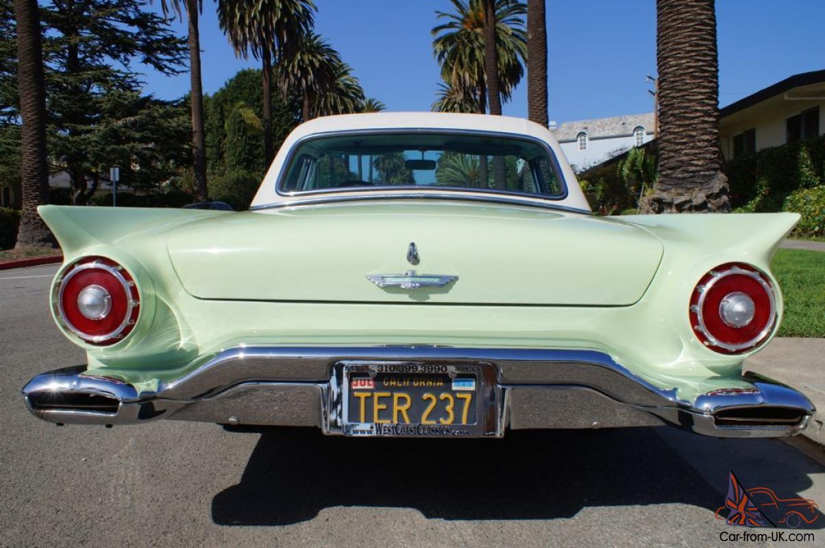 1957 ORIGINAL CALIFORNIA 'BLACK LICENSE PLATES' 312 V8 IN ORIGINAL WILLOW  GREEN!
