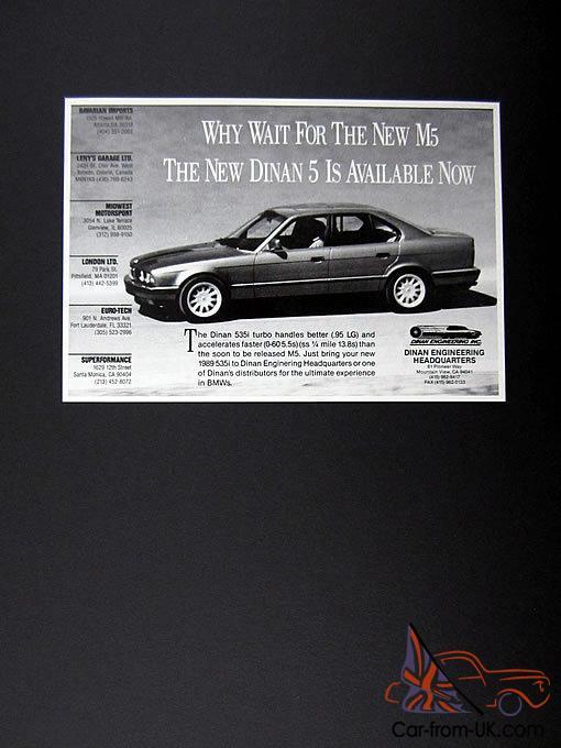 E34 1989 BMW 535i Dinan Turbo