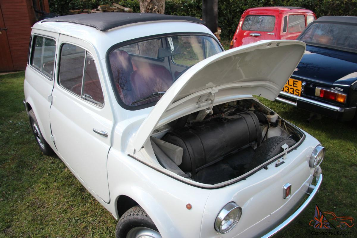 Fiat 500 Giardiniera 1960s With Suicide Doors Full Length Sunroof
