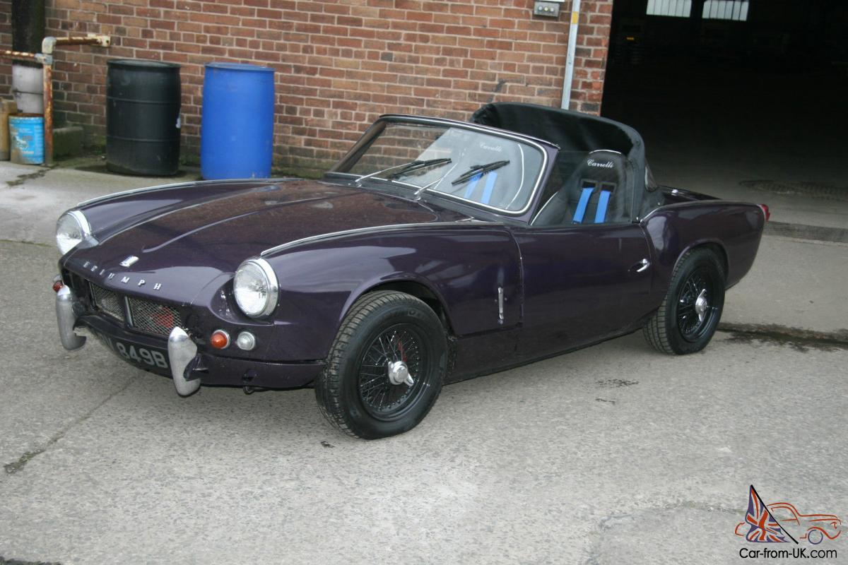 1964 Triumph Spitfire Mk1 Reg No  Arv 849b For Light Restoration