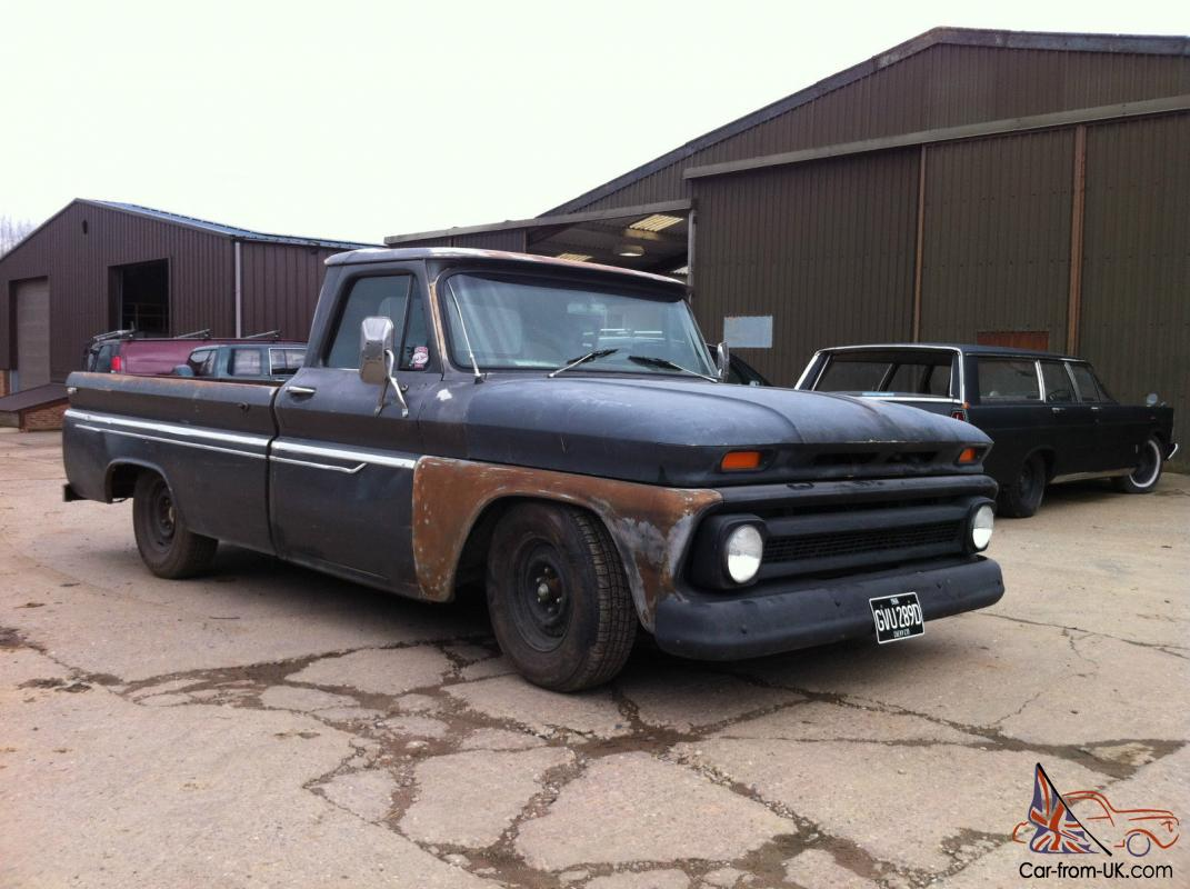 1966 Chevy C10 Pick Up Pickup 350 V8 4 Speed Manual Lowered Pas Truck Slammed Pab Disc