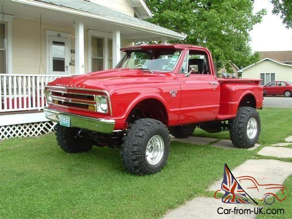 1967 Chevrolet C10 Stepside Chevy Monster Pickup Truck Restoration Project