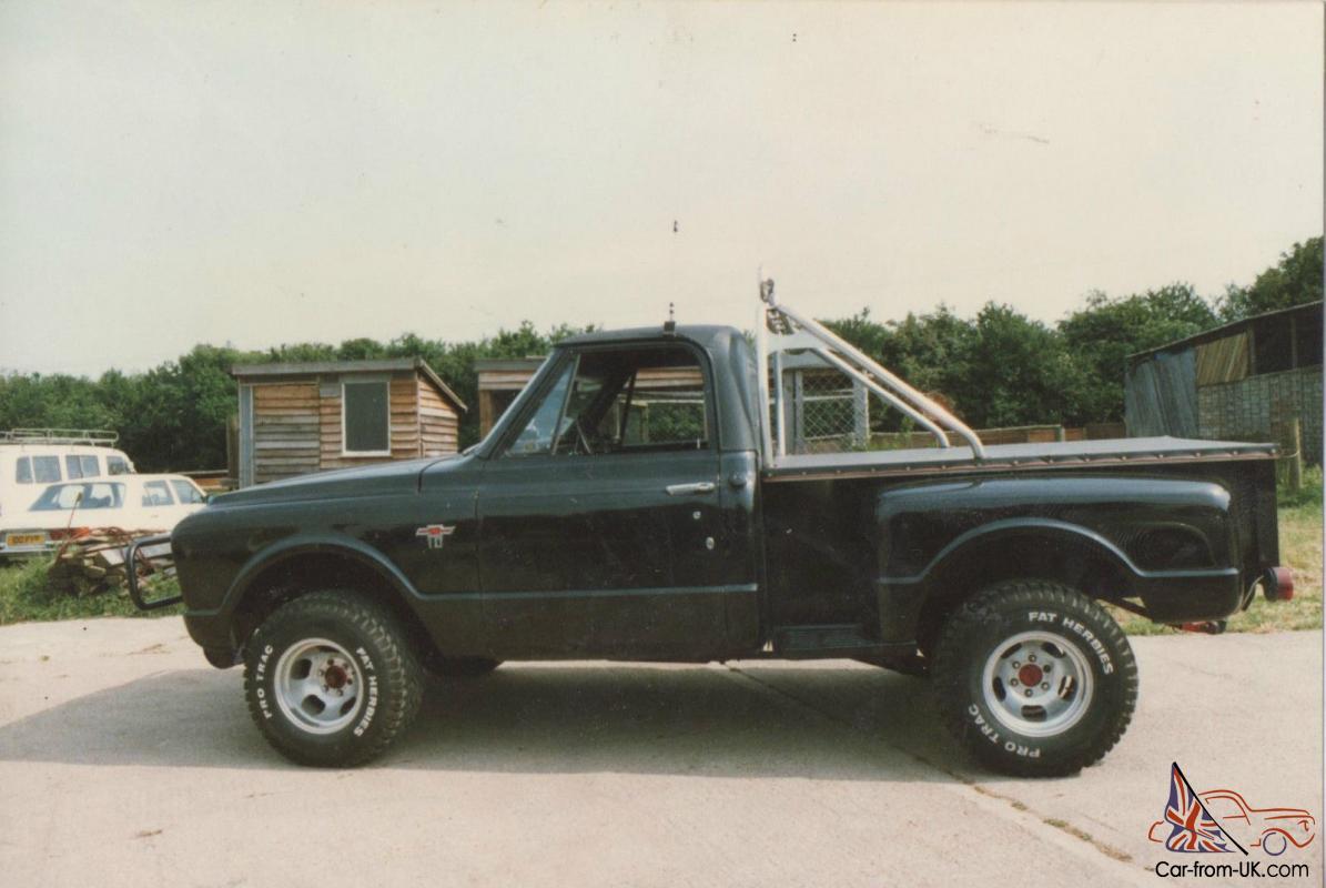 1967 Chevrolet C10 Stepside Chevy Monster Pickup Truck Restoration Project