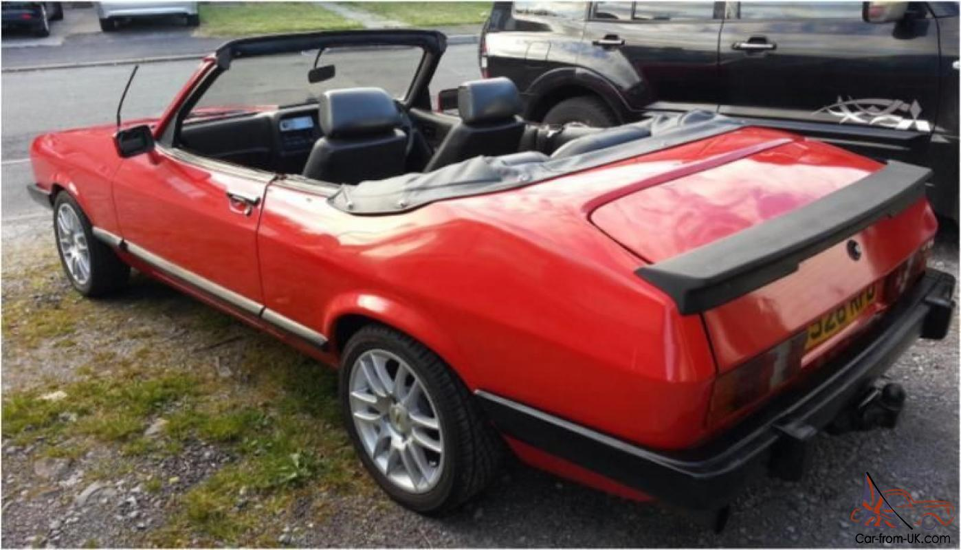 Ford Capri Convertible Very Different Very Rare L K No Part Exchange Etc